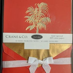 Crane & Co. Black Label Hand Engraved Notes
